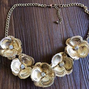 Nordstrom Gold Flower Necklace